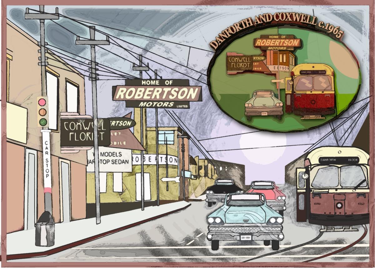 Robertson Motors Coxwell And Danforth Paintbrush To Pixel